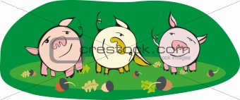 Three small pigs