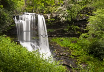 Dry Falls Highlands NC Waterfalls Nature Landscape Western North Carolina