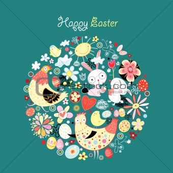 Easter card greeting