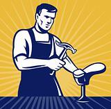 shoemaker cobbler repair shoe retro style