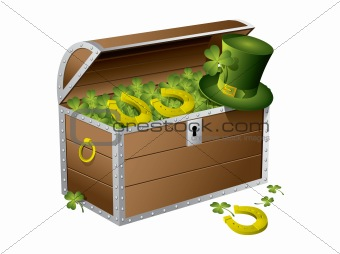 St Patrick day treasure chest