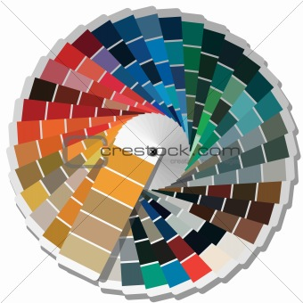 Color palette guide for printing industry.