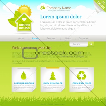 Green House. Web site design template