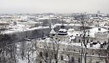 Winter panorama of Vilnius