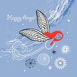 card with an angel