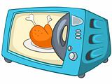 Cartoon Home Kitchen Microwave