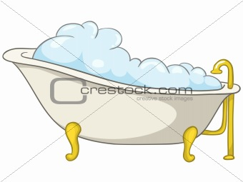 Cartoon Home Washroom Tub