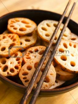 bowl of lotus root