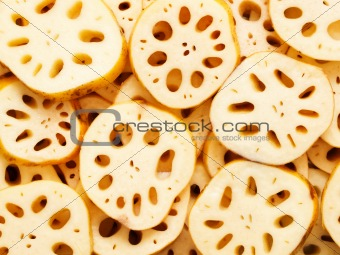 sliced lotus root