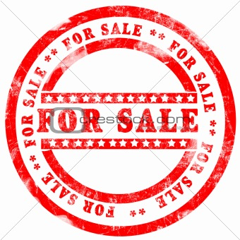 For Sale Stamp