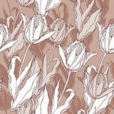 Tulips vector pattern