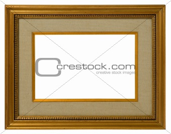 Antique golden frame.