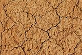 clay earth in cracks from a drought