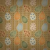 vector  easter seamless background with retro eggs and dots