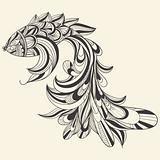 vector concept monochrome fish