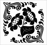 Flower stencil. decorative element