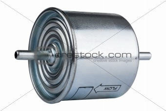 automotive fuel filter side view