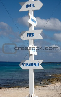 A multi directional sign post