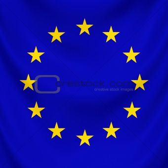 Flag European Union draped