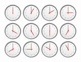 12 clocks