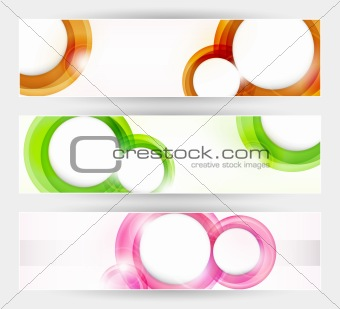 Set of abstract modern vector banners