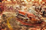 vintage car grunge background