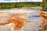 Colorful geyser