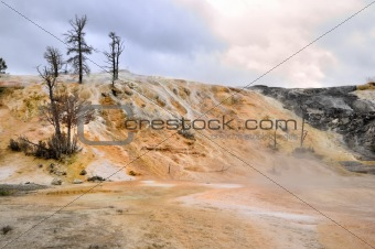 Mammoth Springs. Yellowstone National Park, Wyoming