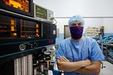 Portrait of surgeon looking at camera in clinic operation room