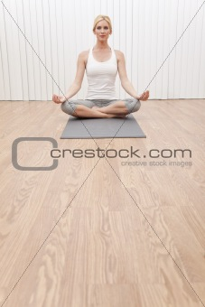 Beautiful Woman In Yoga Position