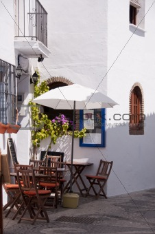 Andalusian terrace at spring