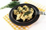 rocket-ricotta tortellini with fresh sage butter
