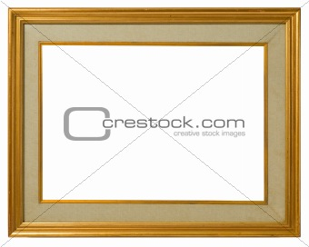 Old gilt wood frame.