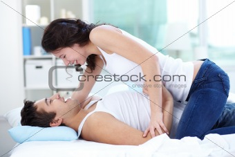 Couple at bed