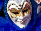 blue mask