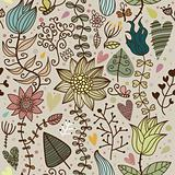 floral seamless cartoon pattern