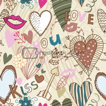Retro seamless sweetheart pattern