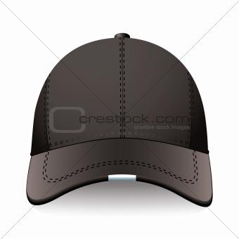 Black sports cap