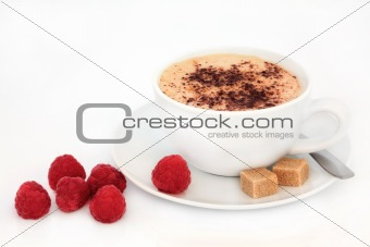 Cappuccino and Raspberries