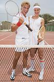Couple ready for tennis