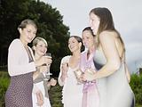 Group of women at wedding