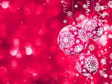 Elegant Christmas card with balls. EPS 8