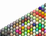 isometric 3d render easter egg in multiple bright color on white