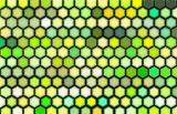 3d render of beveled hexagon in green
