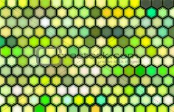 3d render of beveled hexagon in green