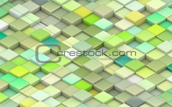 3d green cubes in different shades of green