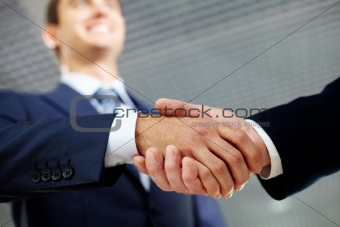 Happy handshake