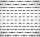 Barbed wire. Seamless background. Vector