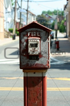 Old fire alarm box