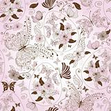 Seamless easter floral pattern